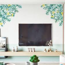Duobla Diy Tropical Plants Leaves Wall Stickers Home Room Green Plants Stickers Walmart Com Walmart Com
