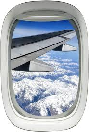 Amazon Com Airplane Window Porthole Wing Decal Sky View Clouds Mural Peel And Stick Aviation Decor A03 Home Kitchen