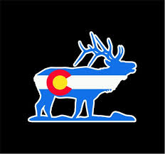 Colorado State Flag Elk Vinyl Sticker Decal Co I Love Etsy Colorado State Flag Vinyl Sticker Vinyl