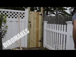 How To Build A Stand Alone Gate For A Fence Youtube