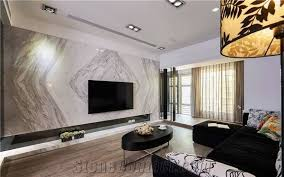 marble slab tv fireplace wall