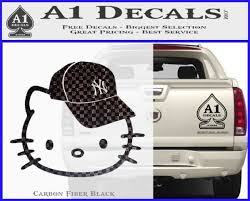 Hello Kitty Ny Yankees Decal Sticker A1 Decals