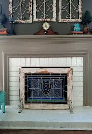 chic diy fireplace screens