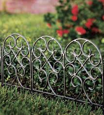 iron fence wrought iron edging with