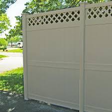 Weatherables Ashton 8 Ft H X 8 Ft W White Vinyl Privacy Fence Panel Kit Pwpr Lat 8x8 The Home Depot