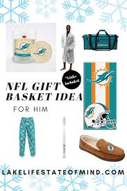 gift basket for your nfl obsessed man