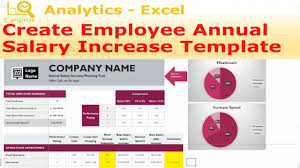 annual salary increase template excel