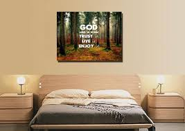 god has a plan trust it live it enjoy it christian quotes wall art