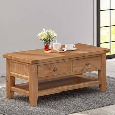 this light oak coffee table is part of