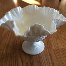 vintage fenton white milk glass hobnail