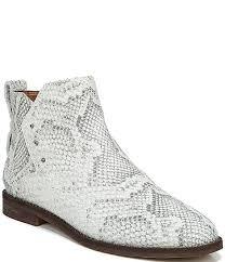 owen python snake print leather booties