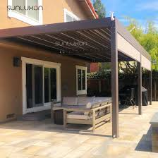 aluminium opening louvered roof pergola