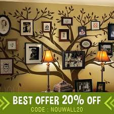 Family Tree Wall Decal Office Wall Decals Photo Frame Tree Etsy