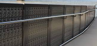 Perforated Metal Panel Railing Demax Arch