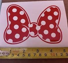 Disney Minnie Mouse Bow 6 Window Auto Decal Stickers Decals Contemporary 1968 Now Collectibles