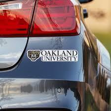 Oakland University Wordmark Logo Car Decal Nudge Printing