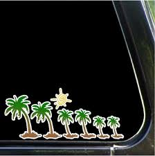 Palm Tree Car Decals Removable Palm Tree Stick Family Sticker Etsy