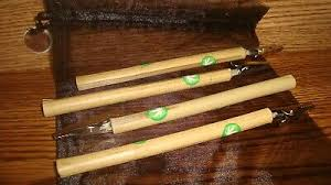 4 Natural Wood Bamboo Roach Clip S 6 1 2 In Marijuana Leaf Decal Image Pouch Ebay