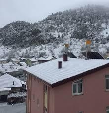 Derebucak'ta kar yağışı