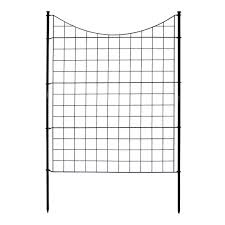 Unbranded Zippity Semi Permanent 3 1 2 Ft X 3 Ft Black Metal Fence Panel With Stakes 5 Pack Wf29002 The Home Depot
