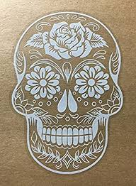 Amazon Com Osmdecals Sugar Skull Sticker Version 38 Day Of The Dead Vinyl Wall Home Decor Car Window Decal Sticker Automotive