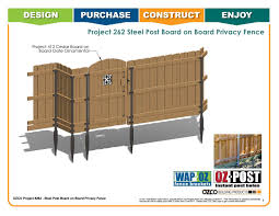 Ozco Project Steel Post Board On Board Privacy Fence 262 By Ozco Building Products Issuu
