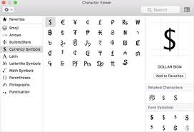 how to type symbols and characters in