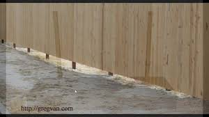 Problems With Uneven Ground And Straight Fences Landscaping And Construction Tips Youtube