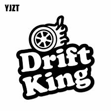 Yjzt 10 2cm 9 6cm Drift King Car Sticker Vinyl Decal Drift Turbo Fast Black Silver C10 00976 Car Stickers Aliexpress