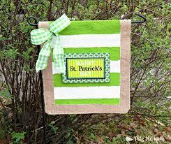 st patrick s day no sew garden flag