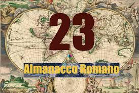 Almanacco Romano - Accadde oggi 23 gennaio