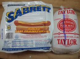 beef skinless hot dogs and 3 lbs taylor