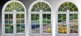 Faux Window Frame Photo Wall Decals Dutch Garden Holland Window View Large 3 Piece Set 24x36 Each Panel Faux Window Dutch Gardens Brick Exterior House