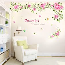 Floral Wall Decal Sticker Home Store Decor Diy Removable Art Vinyl Mural For Living Room Bedroom Tv Sofa Background Qtb283 Headboard Wall Decal Heart Wall Stickers From Kepi4 24 48 Dhgate Com