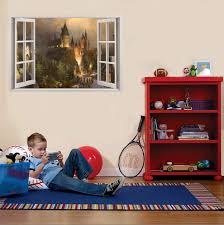 Amazon Com Hogwarts Harry Potter 3d Window View Decal Graphic Wall Sticker Art Mural H322 Large Kitchen Dining