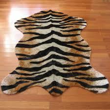 faux tiger skin pelt rug 4 7 x 6
