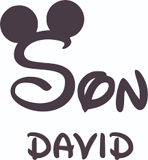 The Mickey Mouse Son Design Customized Wall Art Vinyl Decal Custom Vinyl Wall Art Personalized Name Baby Girls Boys Kids Bedroom Decal Room Wall Art Stickers Decoration Size 30x27