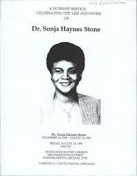 Dr. Sonja Haynes Stone