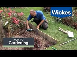 How To Install Log Roll Edging With Wickes Youtube
