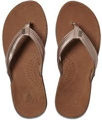 reef miss j bay leather sandals in rose