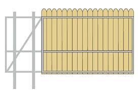 Gate Crafters Vinyl Wood Slat Single Slide Gate Frame Please Select A Width