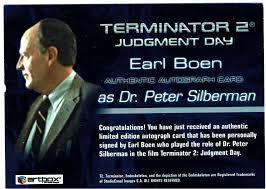 Like All, Pinterest!!: Terminator 2 T2 Artbox Autograph Card Earl Boen as  Dr. Peter Silberman