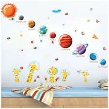 Space Solar System Outer Planets Wall Decal Kids Room Bedroom Sticker Art Decor For Sale Online