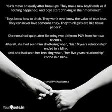 girls move on easily aft quotes writings by anjali