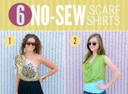 6 ways to diy a scarf into a shirt