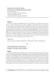 PDF) Dossier II. Las nuevas tecnologías en la enseñanza de la historia:  contexto, crítica y balance provisorio: Enseñar a leer y escribir en  historia: los cambios en un contexto de transición cultural