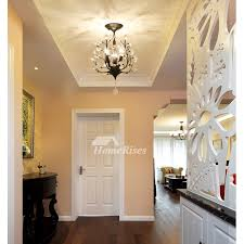 Art Decocrystal Ceiling Light Twinkle Chandeliers For Bedrooms Hanging Flower Modern Entryway Kids Room