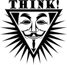 Think Anonymous Mask Die Cut Vinyl Car Decal Sticker Ebay