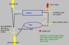 ceiling fan remote with 2 wires
