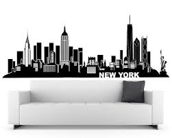 New York Wall Decal City Skyline Theme Black Vinyl Wall Sticker Home Decor Design New York Bedroom Nyc Rooms Wall Stickers Home Decor